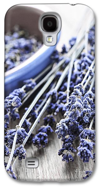 Dried Photographs Galaxy S4 Cases - Dried lavender Galaxy S4 Case by Elena Elisseeva