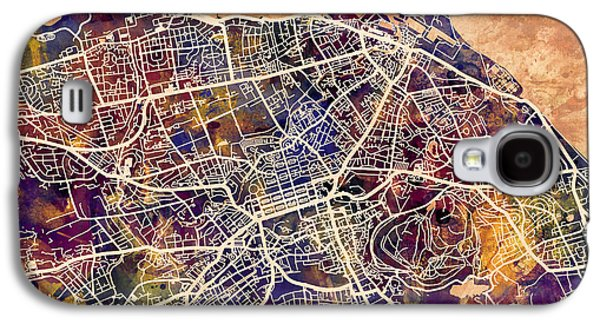 Urban Street Galaxy S4 Cases - Edinburgh Street Map Galaxy S4 Case by Michael Tompsett