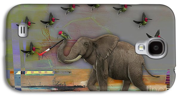 Elephant Painting Galaxy S4 Case by Marvin Blaine