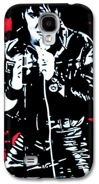 Chart Paintings Galaxy S4 Cases - Elvis Galaxy S4 Case by Luis Ludzska