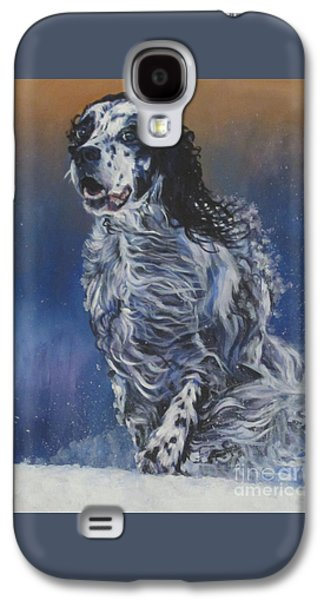 Snowy Day Paintings Galaxy S4 Cases - English Setter Galaxy S4 Case by Lee Ann Shepard