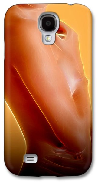 Supergirl Digital Galaxy S4 Cases - Erotic Art Galaxy S4 Case by Michael Vicin