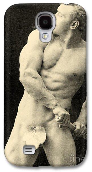 Mustache Galaxy S4 Cases - Eugen Sandow Galaxy S4 Case by George Steckel
