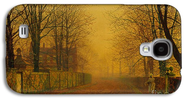 Autumn Landscape Drawings Galaxy S4 Cases - Evening Glow Galaxy S4 Case by Celestial Images