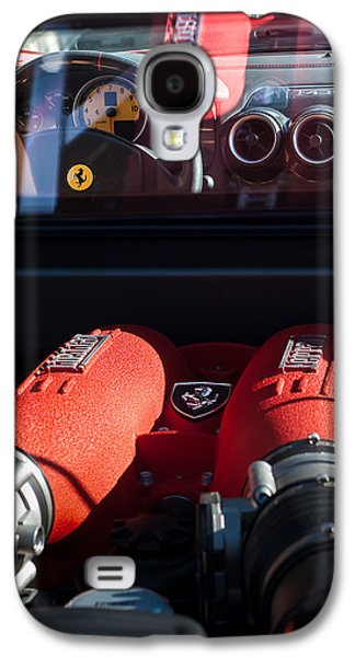 Transportation Photographs Galaxy S4 Cases - Ferrari Engine Galaxy S4 Case by Jill Reger