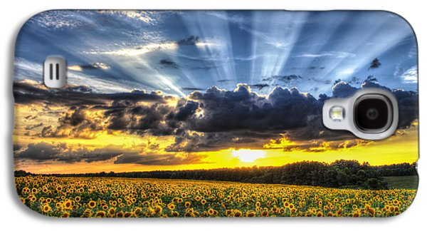 Sunflower Field Galaxy S4 Cases - Field of View Galaxy S4 Case by Chris Austin