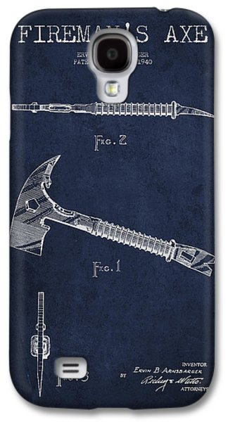 Gear Digital Galaxy S4 Cases - Fireman Axe Patent drawing from 1940 Galaxy S4 Case by Aged Pixel