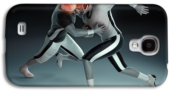 Internal Organs Galaxy S4 Cases - Football Collision Galaxy S4 Case by Science Picture Co