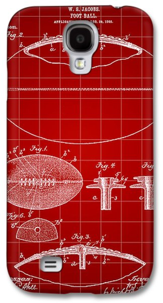 Pro Football Galaxy S4 Cases - Football Patent 1902 - Red Galaxy S4 Case by Stephen Younts