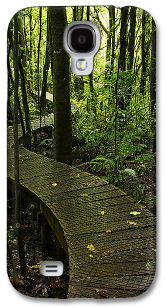 Pathway Galaxy S4 Cases - Forest boardwalk Galaxy S4 Case by Les Cunliffe