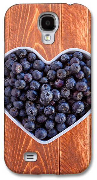 Fresh Picked Organic Blueberries Galaxy S4 Case by Teri Virbickis