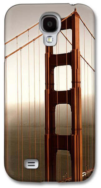 Downtown San Francisco Galaxy S4 Cases - Golden Gate Bridge Galaxy S4 Case by Melanie Viola