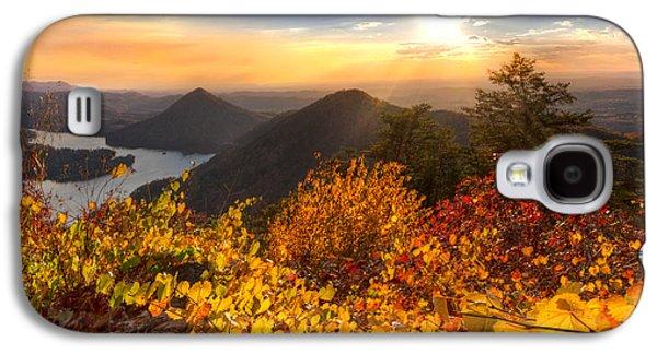River Scenes Photographs Galaxy S4 Cases - Golden Hour Galaxy S4 Case by Debra and Dave Vanderlaan
