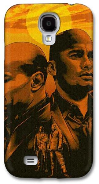 Rowboat Digital Art Galaxy S4 Cases - Heisenberg Poster Galaxy S4 Case by Victor Gladkiy
