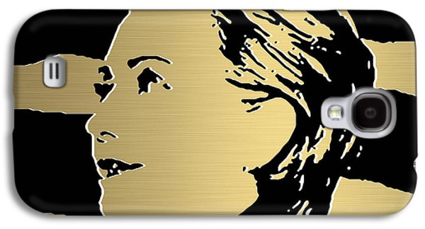 Democrat Mixed Media Galaxy S4 Cases - Hillary Clinton Gold Series Galaxy S4 Case by Marvin Blaine
