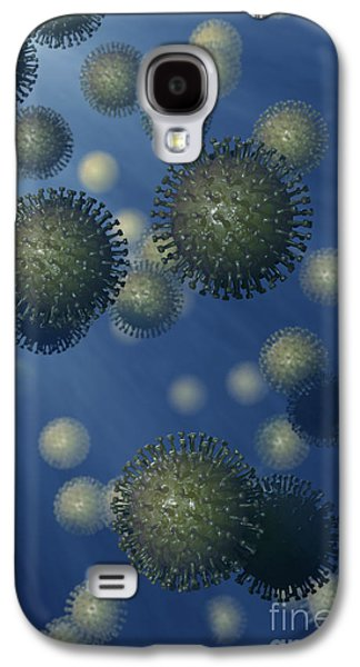 Virions Galaxy S4 Cases - Influenza A Virus Galaxy S4 Case by Science Picture Co