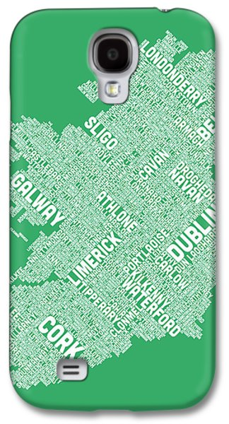 Ireland Galaxy S4 Cases - Ireland Eire City Text map Galaxy S4 Case by Michael Tompsett
