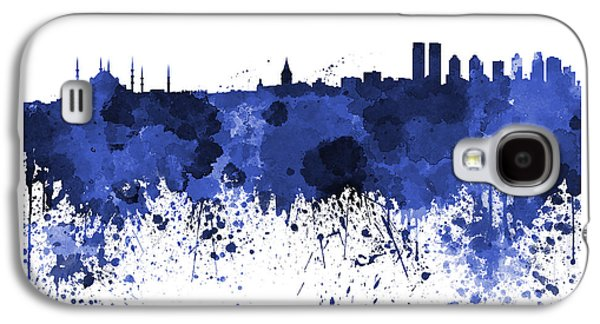 Istanbul Galaxy S4 Cases - Istanbul skyline in watercolor on white background Galaxy S4 Case by Pablo Romero