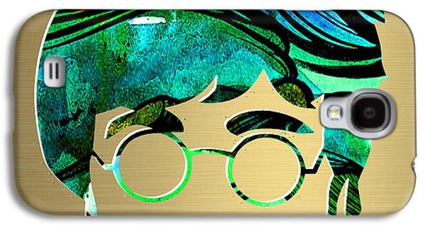 John Lennon Galaxy S4 Cases - John Lennon Gold Series Galaxy S4 Case by Marvin Blaine