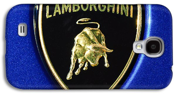 Transportation Photographs Galaxy S4 Cases - Lamborghini Emblem Galaxy S4 Case by Jill Reger