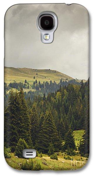Sun Pyrography Galaxy S4 Cases - Landscape Galaxy S4 Case by Jelena Jovanovic