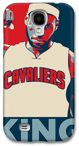 Basketball Abstract Galaxy S4 Cases - Lebron James Galaxy S4 Case by Taylan Soyturk