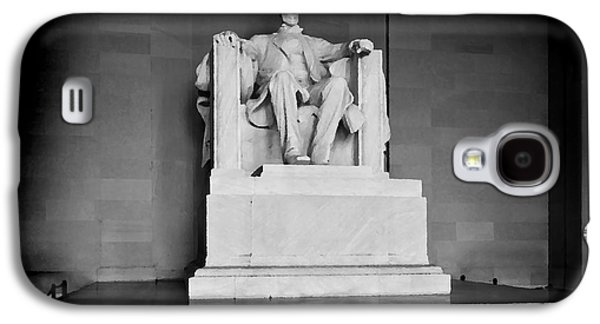 Us Capital Mixed Media Galaxy S4 Cases - Lincoln Memorial Galaxy S4 Case by Lane Erickson