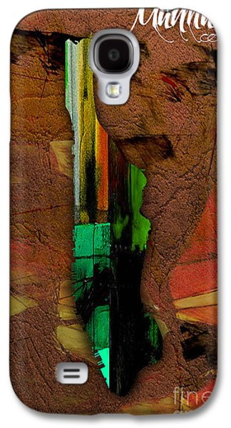 Manhattan Map Watercolor Galaxy S4 Case by Marvin Blaine