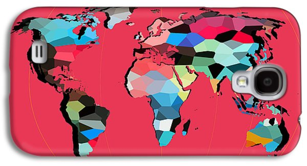 Animation Galaxy S4 Cases - Map Of The World  Galaxy S4 Case by Mark Ashkenazi