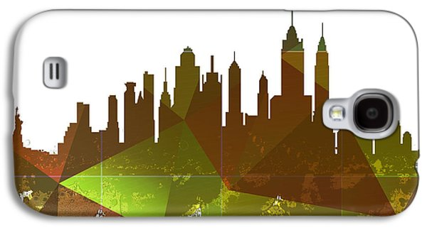 Skylines Mixed Media Galaxy S4 Cases - New York City Skyline Galaxy S4 Case by Celestial Images