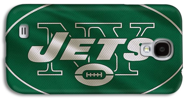 New York Jets Galaxy S4 Cases - New York Jets Uniform Galaxy S4 Case by Joe Hamilton