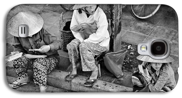 Matting Galaxy S4 Cases - 3 Non la in Hoi An-Vietman-BW Galaxy S4 Case by Jennie Breeze