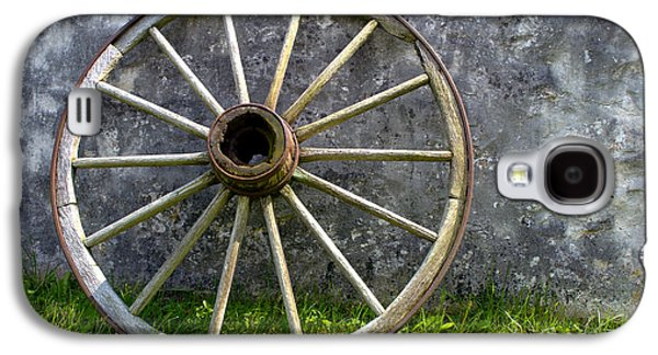 Conestoga Galaxy S4 Cases - Old Wagon Wheel Galaxy S4 Case by Olivier Le Queinec