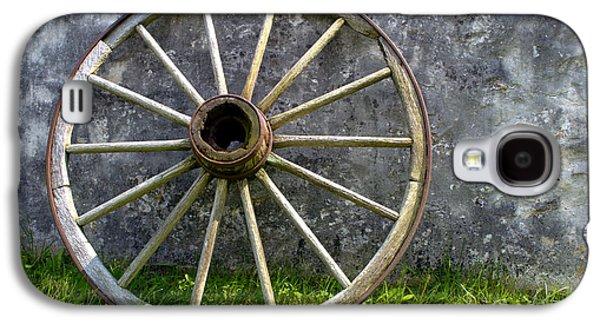 Antique Wagon Wheel Galaxy S4 Case by Olivier Le Queinec