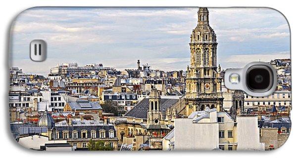 Chimneys Galaxy S4 Cases - Paris rooftops Galaxy S4 Case by Elena Elisseeva