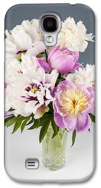 Studio Photographs Galaxy S4 Cases - Peony flower bouquet Galaxy S4 Case by Elena Elisseeva