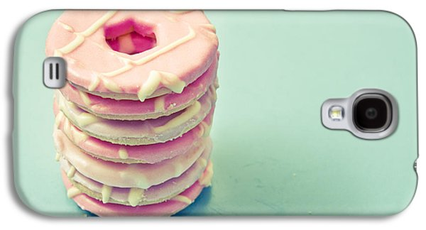 Diagonal Galaxy S4 Cases - Pink cookies Galaxy S4 Case by Tom Gowanlock