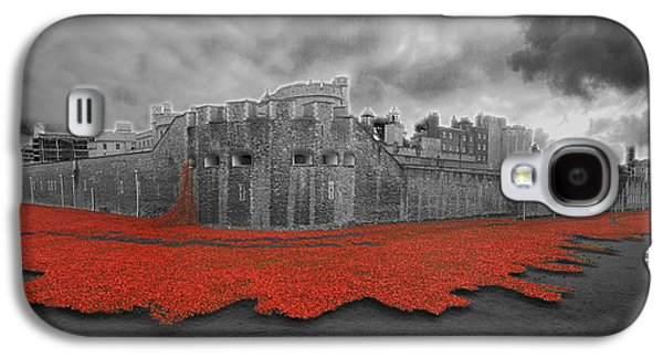 Chatham Galaxy S4 Cases - Poppies Tower of London collage Galaxy S4 Case by David French