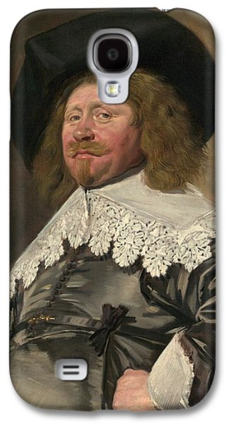 1636 Paintings Galaxy S4 Cases - Portrait of a Man Galaxy S4 Case by Frans Hals