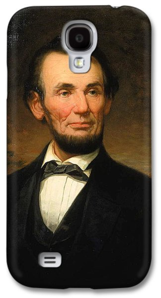 Republican Mixed Media Galaxy S4 Cases - President Abraham Lincoln Galaxy S4 Case by William F Cogswell
