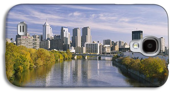 Schuylkill Galaxy S4 Cases - Reflection Of Buildings In Water Galaxy S4 Case by Panoramic Images