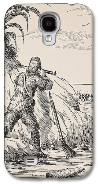 Novel Paintings Galaxy S4 Cases - Robinson Crusoe Galaxy S4 Case by English School