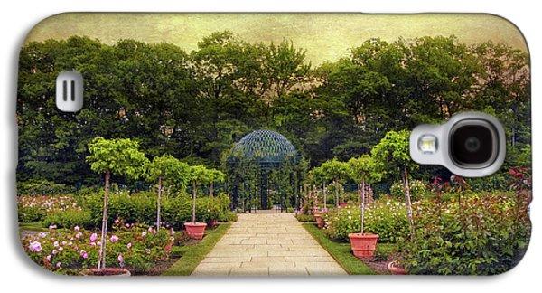 Botanical Digital Galaxy S4 Cases - Rose Garden Gazebo Galaxy S4 Case by Jessica Jenney