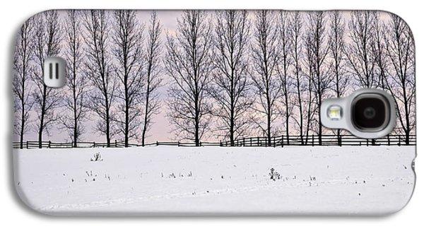 Snowy Evening Galaxy S4 Cases - Rural winter landscape Galaxy S4 Case by Elena Elisseeva