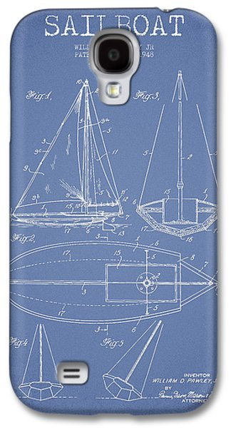 Sailboat Art Galaxy S4 Cases - Sailboat Patent Drawing From 1948 Galaxy S4 Case by Aged Pixel