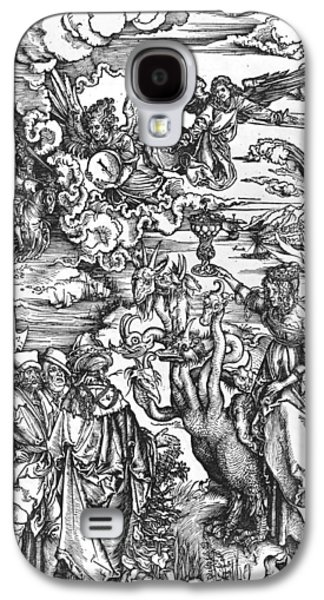 Angels Drawings Galaxy S4 Cases - Scene from the Apocalypse Galaxy S4 Case by Albrecht Durer or Duerer