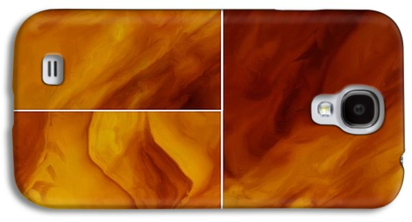Abstracts Glass Galaxy S4 Cases - Serenity Galaxy S4 Case by Tom Druin