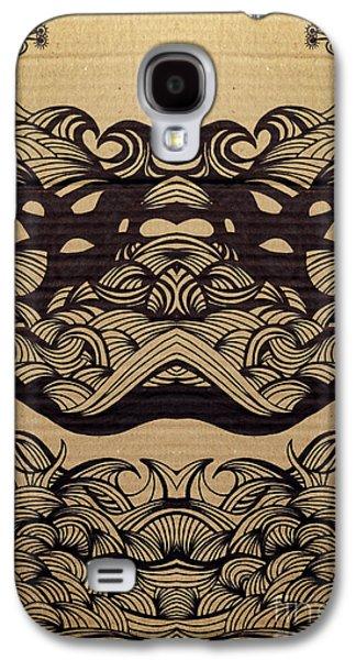 Cardboard Galaxy S4 Cases - Sharpie on Cardboard Galaxy S4 Case by HD Connelly