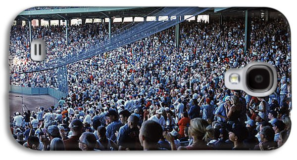 Sports Photographs Galaxy S4 Cases - Spectators Watching A Baseball Match Galaxy S4 Case by Panoramic Images
