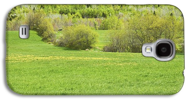 Maine Meadow Galaxy S4 Cases - Spring Farm Landscape in Maine Galaxy S4 Case by Keith Webber Jr